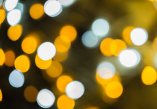 Defocused ligths of Christmas tree. Bokeh Background Royalty Free Stock Photos