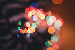 Defocused ligths of Christmas tree Stock Photo