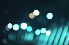 Defocused ljus och skugga av den ljusa kulan, grön signal Royaltyfri Fotografi