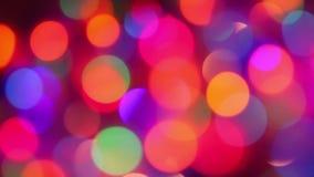 Defocused ljus, rörelsebakgrund stock video