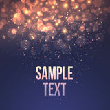 Defocused magic star background. Vector Royalty Free Stock Photography