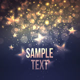 Defocused magic star background. Vector Royalty Free Stock Image