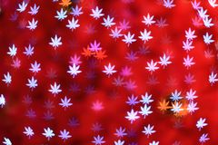 Defocused maple leaves background (Bokeh) Royalty Free Stock Photos