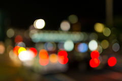 Defocused miastowa abstrakcjonistyczna tekstura, bokeh miasto światła zaświeca wewnątrz Fotografia Royalty Free