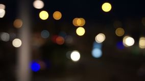 Defocused Nachtampeln stock footage