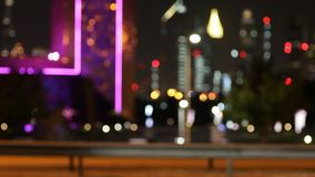 Defocused Night City Traffic Lights. Color Blurred bokeh of moving cars. Defocused Night City Traffic Lights. Color Blurred bokeh of moving cars and city noise stock video footage