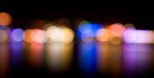 Defocused night lights Royalty Free Stock Photo
