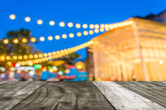 Defocused night street abstract texture. Royalty Free Stock Image