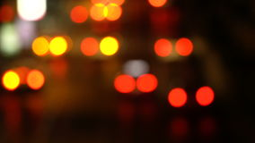 Defocused night traffic stock video