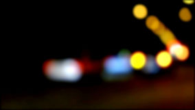 Defocused night traffic lights. Blurred abstract background Stock Photography