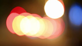 Defocused night traffic lights-Dnepropetrovsk Royalty Free Stock Photo