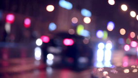Defocused night traffic lights. Urban background. HD stock video footage