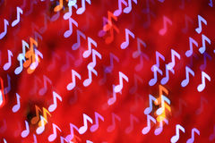 Defocused note background (Bokeh) Royalty Free Stock Photography