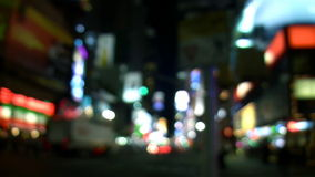 Defocused NYC-Times Square-Stadt-Lichter stock video footage