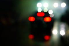 defocused oświetleniowa noc obraz stock