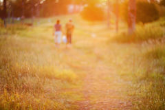 Defocused path on sunset Royalty Free Stock Photography