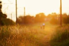 Defocused path on sunset Stock Image