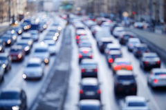 Defocused photo of city roads Royalty Free Stock Photography