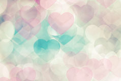 Defocused pink hearts royalty free stock image