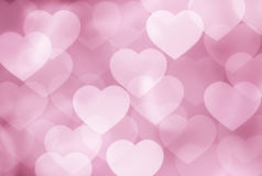 Defocused pink hearts Stock Photos