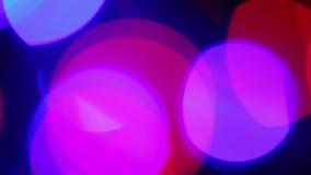Defocused pink lights, motion background stock video