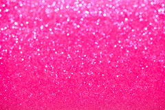 Defocused Pink Sparkles Stock Images
