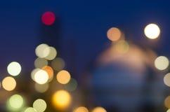 Defocused plamy nocy przemysłowy światło Obraz Royalty Free