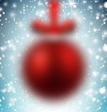 Defocused red christmas ball. Royalty Free Stock Photos