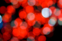 Defocused red lights. Royalty Free Stock Photography