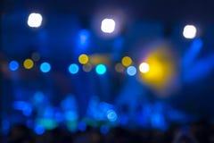 Defocused rozrywka koncerta bokeh oświetlenie na scenie obraz stock