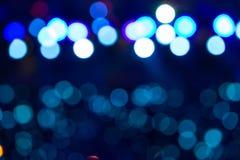 Defocused rozrywka koncerta oświetlenie na scenie, bokeh obraz stock