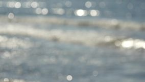 Defocused sea background stock video