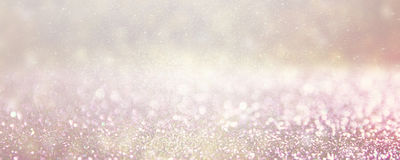 Defocused silver and pink lights background photo. Stock Image