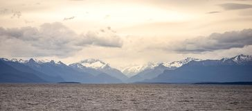 Defocused snow Mount Cook landscape, the highest mountain in New Zealand and popular. stock photo
