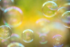 Defocused soap bubbles Royalty Free Stock Images