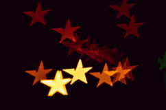 Defocused star bokeh Royalty Free Stock Images