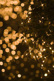 Defocused star shape light effect for holidays Royalty Free Stock Photography
