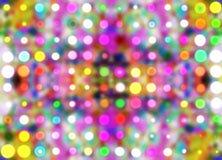 Defocused stubarwnych kalejdoskopów światło reflektorów confetti rozmyty wzór royalty ilustracja