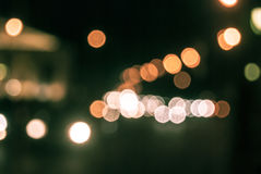 Defocused traffic lights Royalty Free Stock Photos