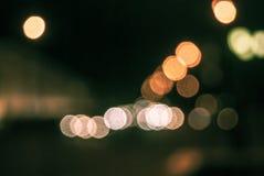 Defocused traffic lights Royalty Free Stock Image