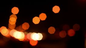 Defocused Traffic Lights. At Night stock video