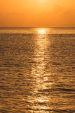 Defocused tropical ocean sunset background Royalty Free Stock Photography