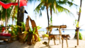 Defocused UHD shot of the tropical beach club stock footage