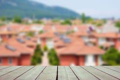 Defocused und Unschärfebild der Terrasse Stockfotos