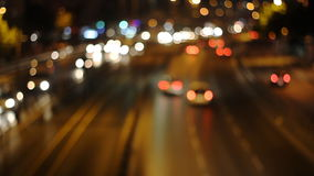Defocused urban abstract texture ,blurred. Artistic style - Defocused urban abstract texture ,blurred background with bokeh of city lights from car on street at stock video footage