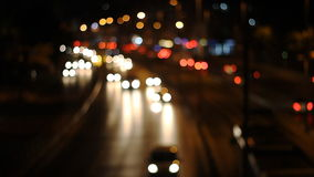 Defocused urban abstract texture ,blurred. Artistic style - Defocused urban abstract texture ,blurred background with bokeh of city lights from car on street at stock footage