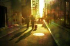 Defocused urban scene retro style Stock Photos