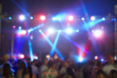 Defocused View Of Audience At Music Festival Stock Image