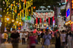 Defocused view of a shopping street Stock Photography