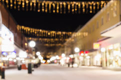 Defocused view of small swedish town Royalty Free Stock Photos